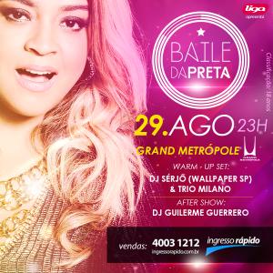 """Preta Gil apresenta o """"Baile da Preta"""" em São Paulo."""