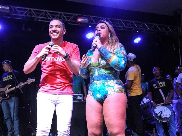 Preta Gil canta com Wesley Safadão em show no Rio